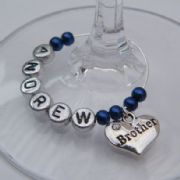 Brother Personalised Wine Glass Charm